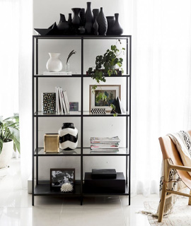 shelf with a clean look